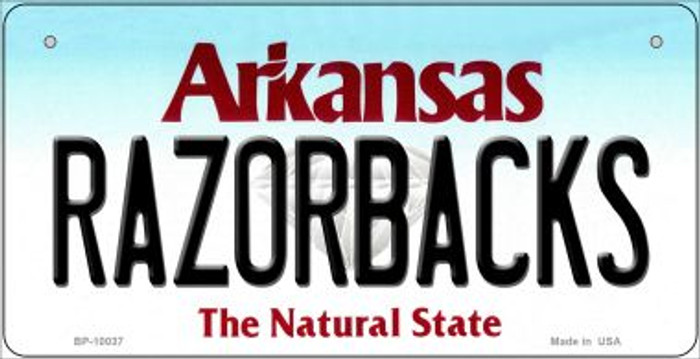 Razorbacks Arkansas Novelty Metal Bicycle Plate BP-10037
