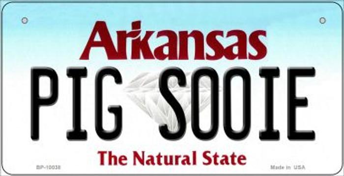 Pig Sooie Arkansas Novelty Metal Bicycle Plate BP-10038