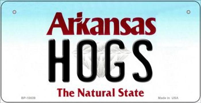 Hogs Arkansas Novelty Metal Bicycle Plate BP-10039