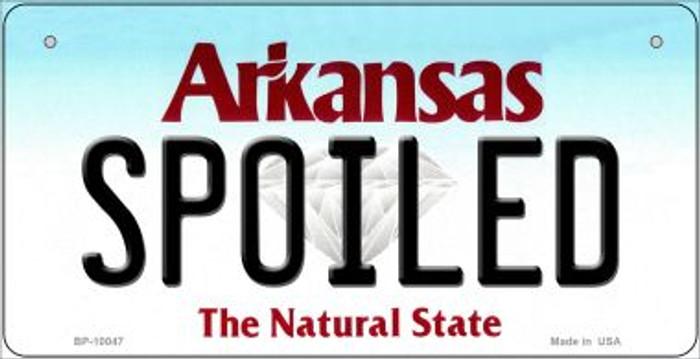 Spoiled Arkansas Novelty Metal Bicycle Plate BP-10047