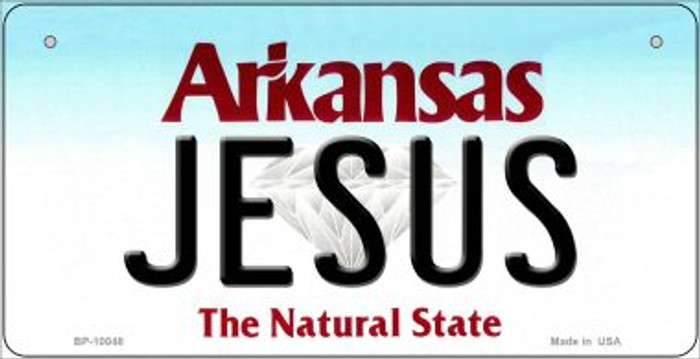 Jesus Arkansas Novelty Metal Bicycle Plate BP-10048