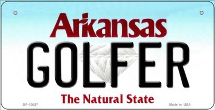 Golfer Arkansas Novelty Metal Bicycle Plate BP-10057