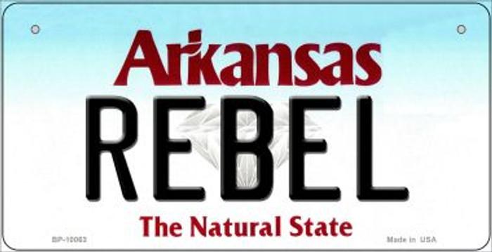 Rebel Arkansas Novelty Metal Bicycle Plate BP-10063
