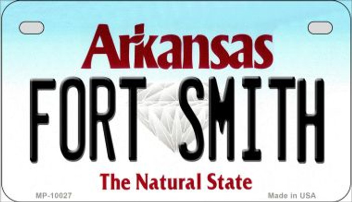 Fort Smith Arkansas Novelty Metal Motorcycle Plate MP-10027