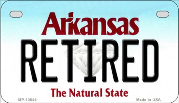 Retired Arkansas Novelty Metal Motorcycle Plate MP-10044