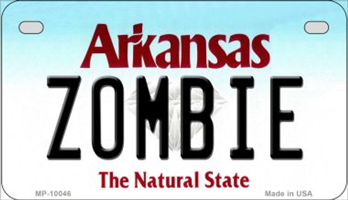 Zombie Arkansas Novelty Metal Motorcycle Plate MP-10046