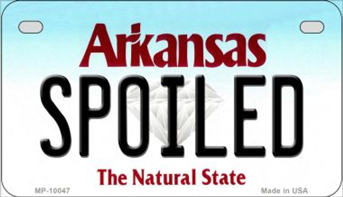 Spoiled Arkansas Novelty Metal Motorcycle Plate MP-10047
