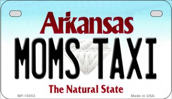 Moms Taxi Arkansas Novelty Metal Motorcycle Plate MP-10053