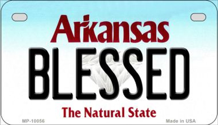 Blessed Arkansas Novelty Metal Motorcycle Plate MP-10056