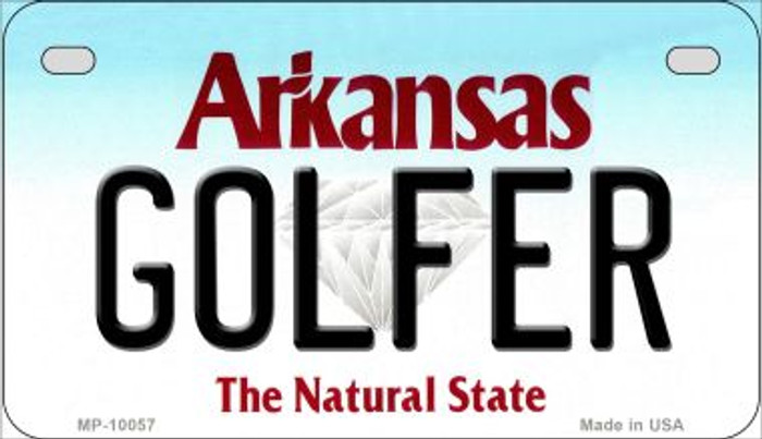 Golfer Arkansas Novelty Metal Motorcycle Plate MP-10057
