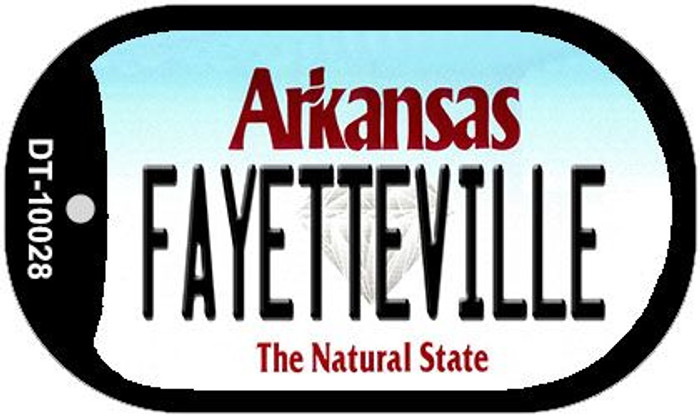 Fayetteville Arkansas Novelty Metal Dog Tag Necklace DT-10028