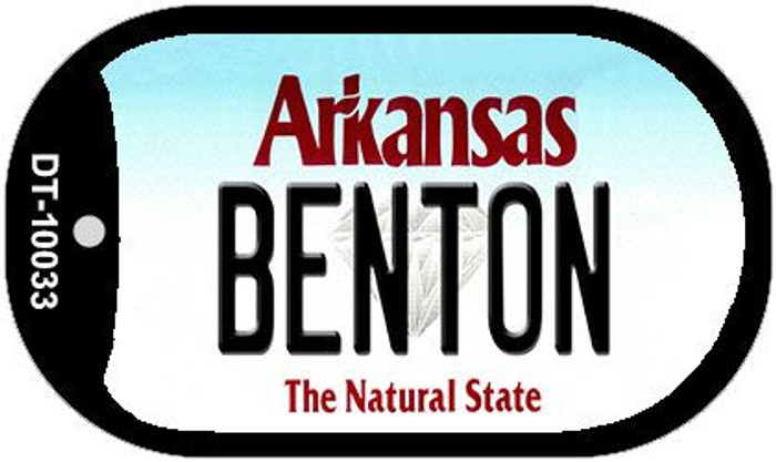 Benton Arkansas Novelty Metal Dog Tag Necklace DT-10033
