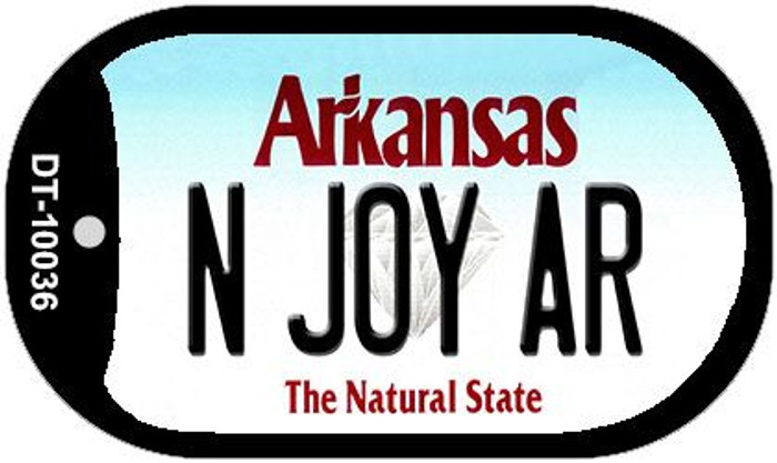 N Joy AR Arkansas Novelty Metal Dog Tag Necklace DT-10036