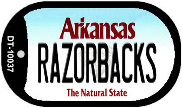 Razorbacks Arkansas Novelty Metal Dog Tag Necklace DT-10037