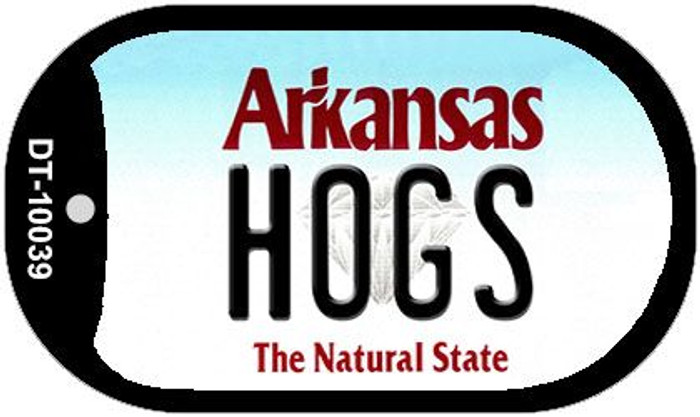 Hogs Arkansas Novelty Metal Dog Tag Necklace DT-10039