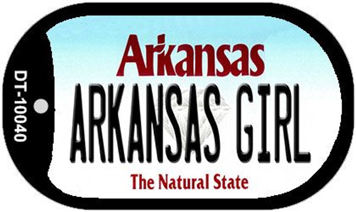 Arkansas Girl Novelty Metal Dog Tag Necklace DT-10040