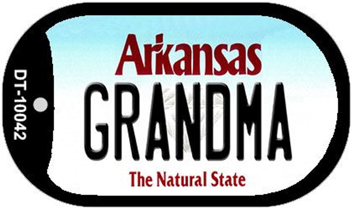 Grandma Arkansas Novelty Metal Dog Tag Necklace DT-10042