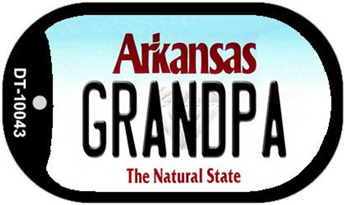 Grandpa Arkansas Novelty Metal Dog Tag Necklace DT-10043