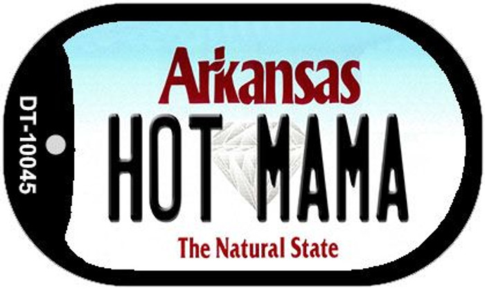 Hot Mama Arkansas Novelty Metal Dog Tag Necklace DT-10045