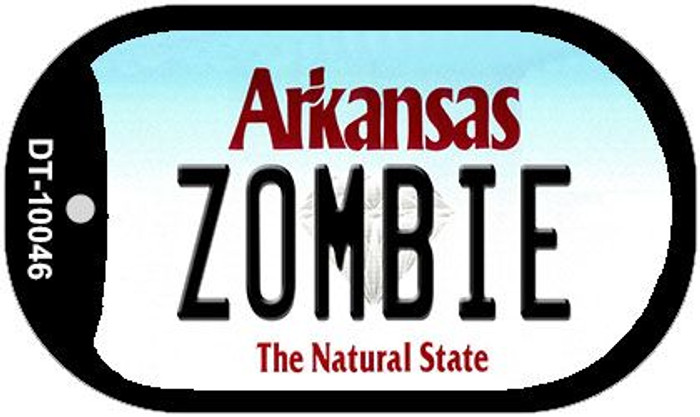 Zombie Arkansas Novelty Metal Dog Tag Necklace DT-10046