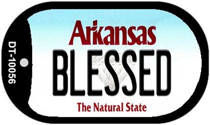 Blessed Arkansas Novelty Metal Dog Tag Necklace DT-10056