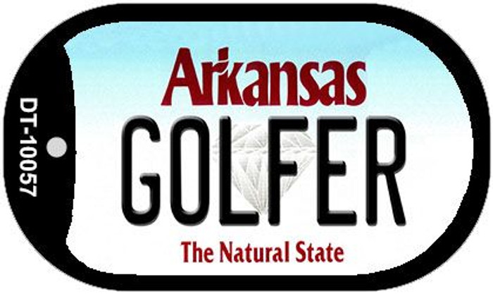 Golfer Arkansas Novelty Metal Dog Tag Necklace DT-10057