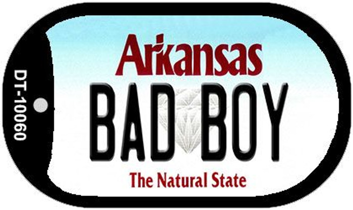 Bad Boy Arkansas Novelty Metal Dog Tag Necklace DT-10060