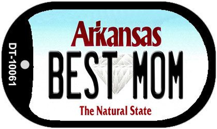 Best Mom Arkansas Novelty Metal Dog Tag Necklace DT-10061