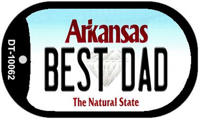 Best Dad Arkansas Novelty Metal Dog Tag Necklace DT-10062