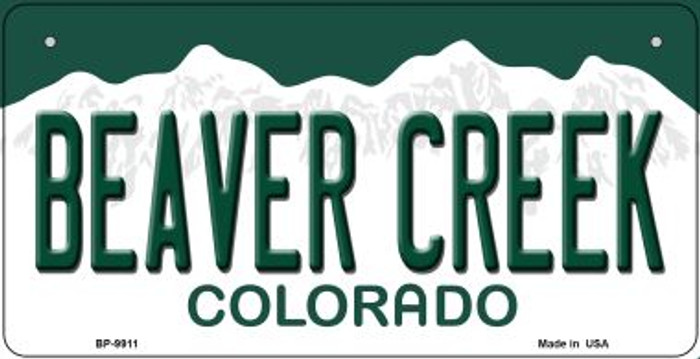 Beaver Creek Colorado Novelty Metal Bicycle Plate BP-9911