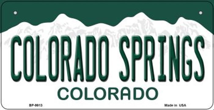 Colorado Springs Colorado Novelty Metal Bicycle Plate BP-9913