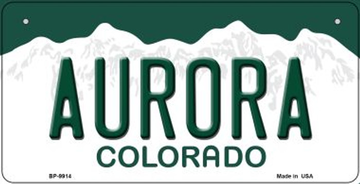 Aurora Colorado Novelty Metal Bicycle Plate BP-9914