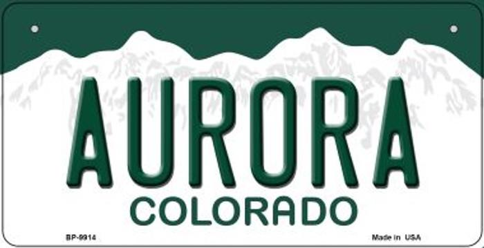 Aurora Colorado Novelty Metal Bicycle Plate BP-9914