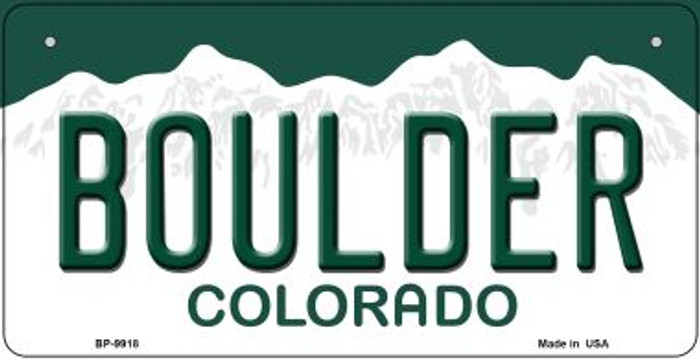 Boulder Colorado Novelty Metal Bicycle Plate BP-9918