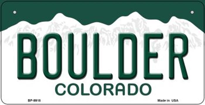 Boulder Colorado Novelty Metal Bicycle Plate BP-9918