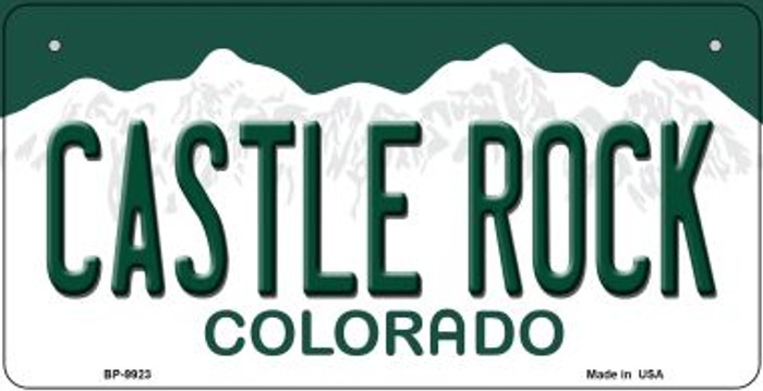 Castle Rock Colorado Novelty Metal Bicycle Plate BP-9923
