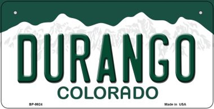 Durango Colorado Novelty Metal Bicycle Plate BP-9924