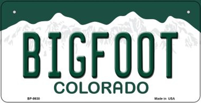 Bigfoot Colorado Novelty Metal Bicycle Plate BP-9930