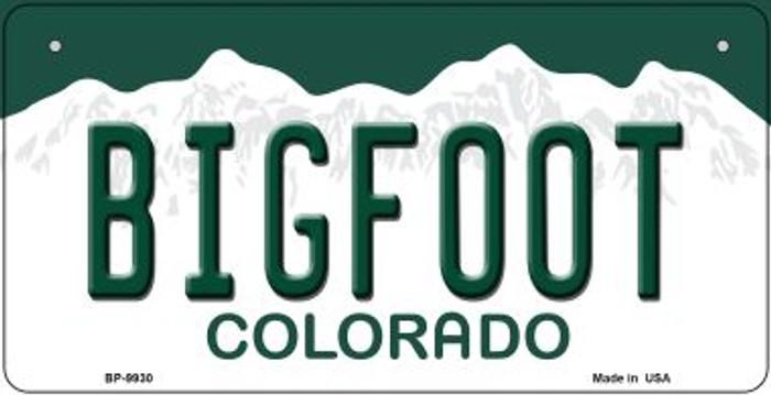 Bigfoot Colorado Novelty Metal Bicycle Plate BP-9930