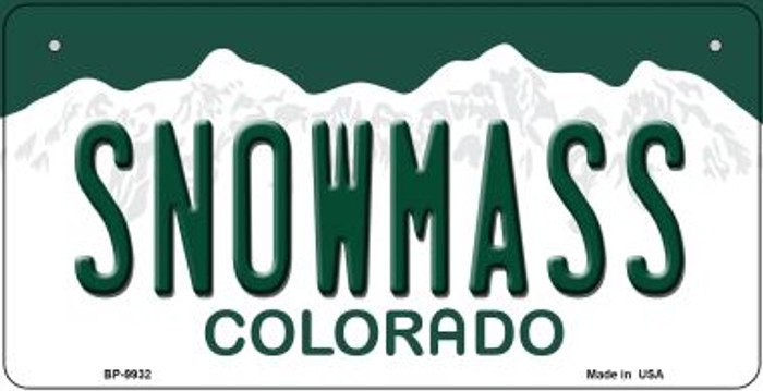 Snowmass Colorado Novelty Metal Bicycle Plate BP-9932