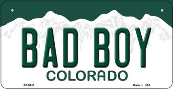 Bad Boy Colorado Novelty Metal Bicycle Plate BP-9933