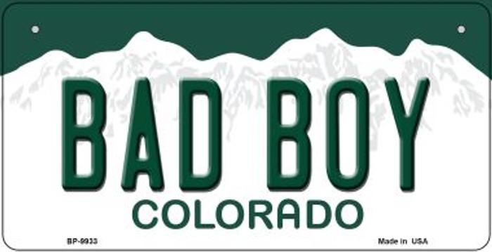 Bad Boy Colorado Novelty Metal Bicycle Plate BP-9933