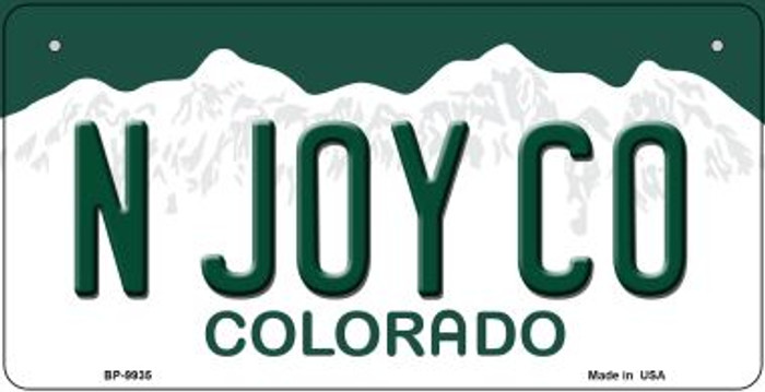 N Joy CO Colorado Novelty Metal Bicycle Plate BP-9935