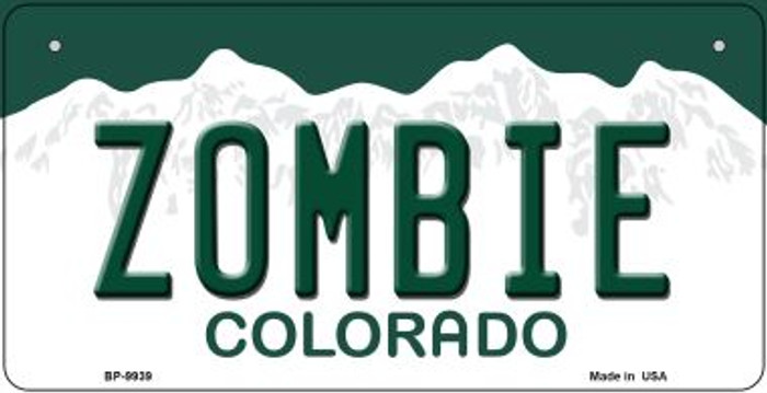 Zombie Colorado Novelty Metal Bicycle Plate BP-9939
