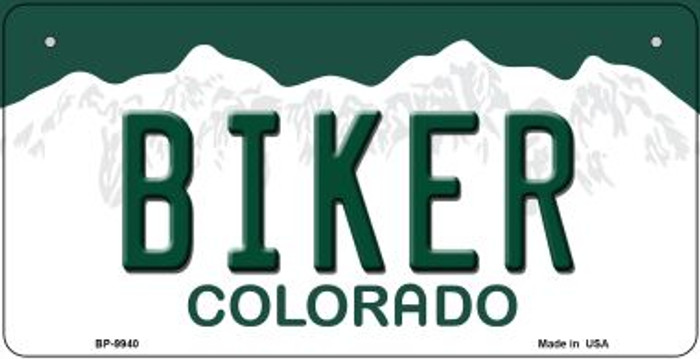 Biker Colorado Novelty Metal Bicycle Plate BP-9940