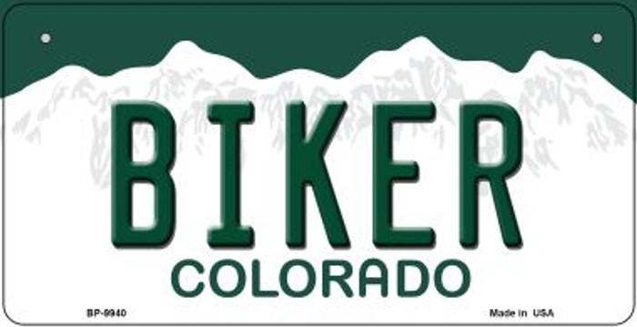 Biker Colorado Novelty Metal Bicycle Plate BP-9940