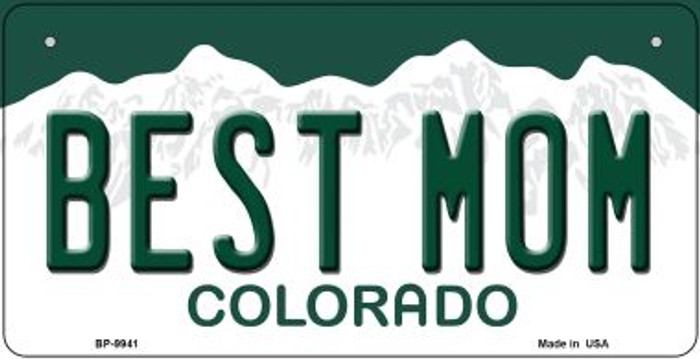 Best Mom Colorado Novelty Metal Bicycle Plate BP-9941