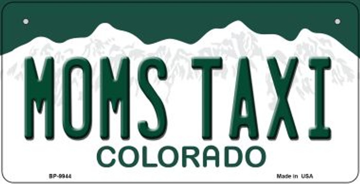 Moms Taxi Colorado Novelty Metal Bicycle Plate BP-9944