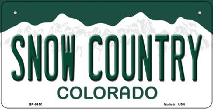 Snow Country Colorado Novelty Metal Bicycle Plate BP-9950