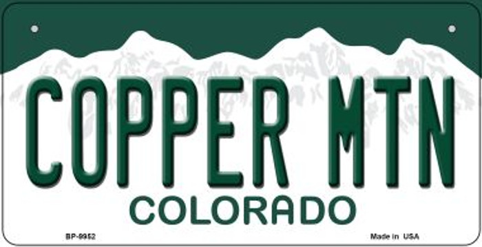 Copper Mountain Colorado Novelty Metal Bicycle Plate BP-9952